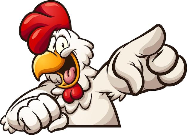 Pollo que señala