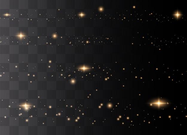 Polvo espumoso y estrellas doradas