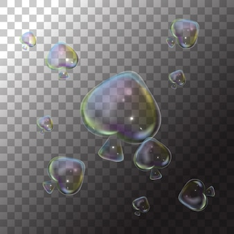 Pompas de jabón de ilustración en transparente