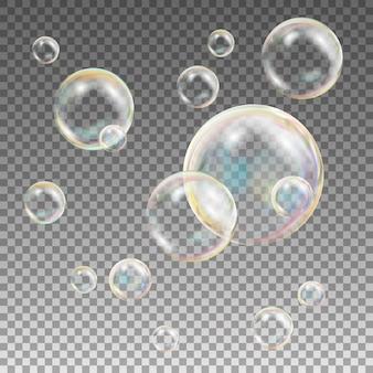 Pompas de jabón transparentes