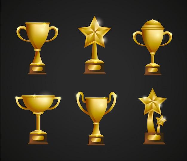 Pon los primeros premios a la victoria del campeón.