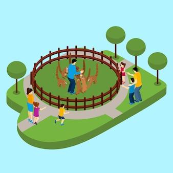 Póngase en contacto con zoo illustration