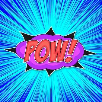 Pop art bomb pow