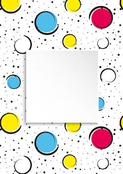 Pop art colorido confeti.
