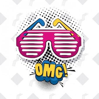 Pop art dibujos animados de omg