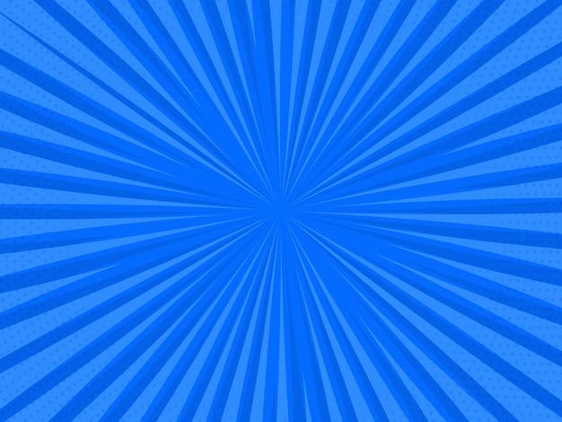 Pop art retro fondo cómico. explosión de rayos puntos de semitono. ilustración vectorial