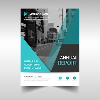 Portada abstracta de reportaje anual