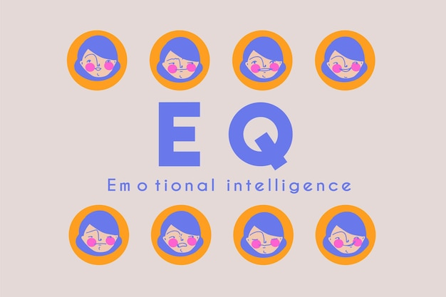 Portada de banner prefabricada de inteligencia emocional eq