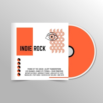 Portada de cd general indie minimalista abstracta
