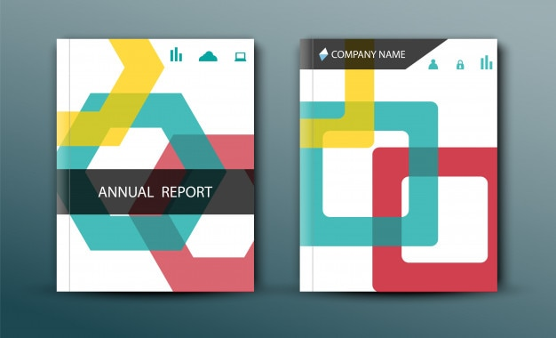 Portada del informe anual en diseño abstracto
