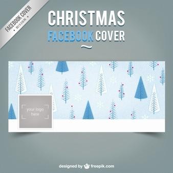 Portada de facebook de árboles de navidad