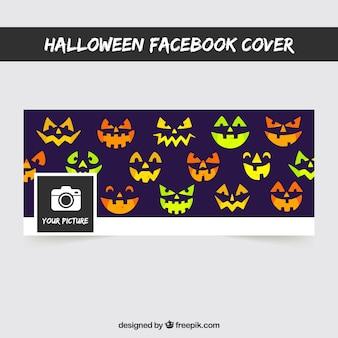 Portada de facebook con caras de calabazas