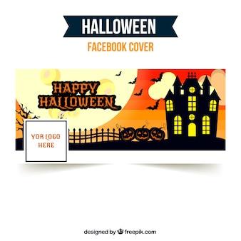 Portada de facebook con castillo terrorífico