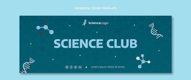 Portada de facebook de ciencia plana