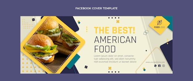 Portada de facebook de comida plana