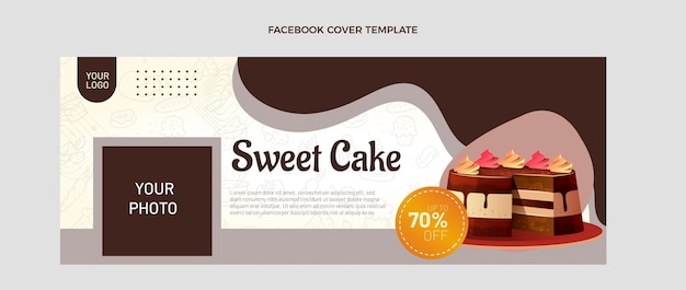 Portada de facebook de comida realista