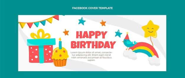 Portada de facebook de cumpleaños infantil dibujada a mano