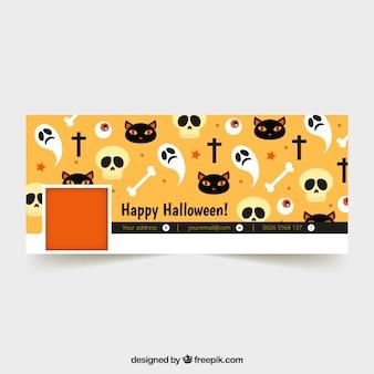 Portada de facebook con elementos de halloween