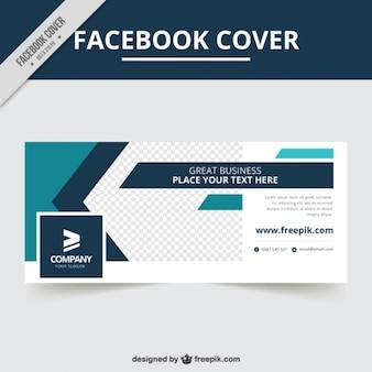 Portada de facebook de empresa con formas abstractas
