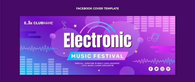 Portada de facebook del festival de música colorido degradado
