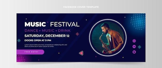Portada de facebook del festival de música degradado