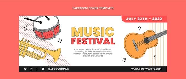 Portada de facebook de festival de música minimalista plana