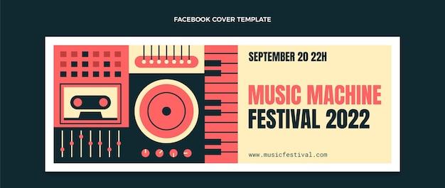 Portada de facebook del festival de música de mosaico plano