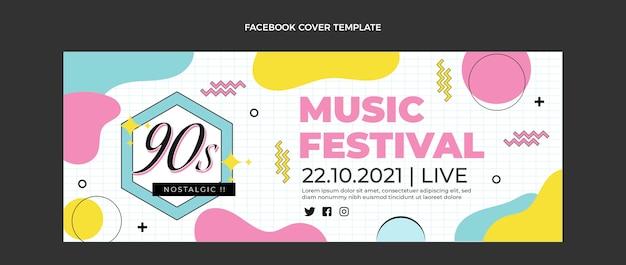 Portada de facebook del festival de música nostálgica plana de los 90