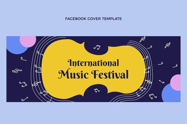 Portada de facebook de festival de música plana