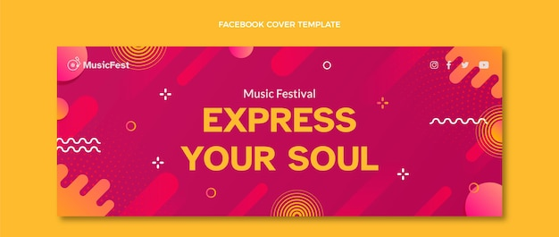 Portada de facebook del festival de música de semitono degradado
