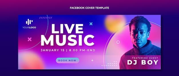 Portada de facebook del festival de música de textura degradada