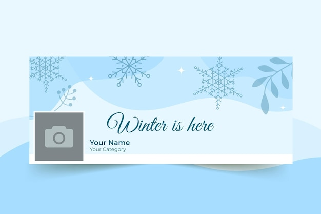 Portada de facebook de invierno monocolor abstracto