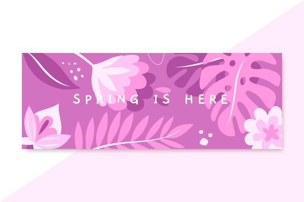 Portada de facebook monocromática de primavera