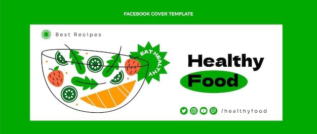 Portada de facebook plana de comida sana