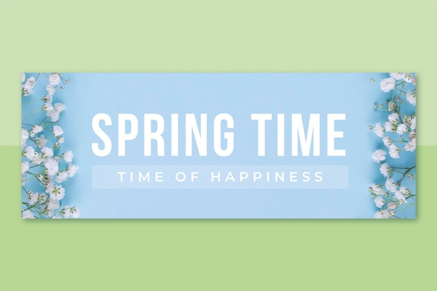 Portada de facebook de primavera con foto y texto