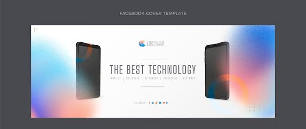 Portada de facebook de tecnología de textura degradada