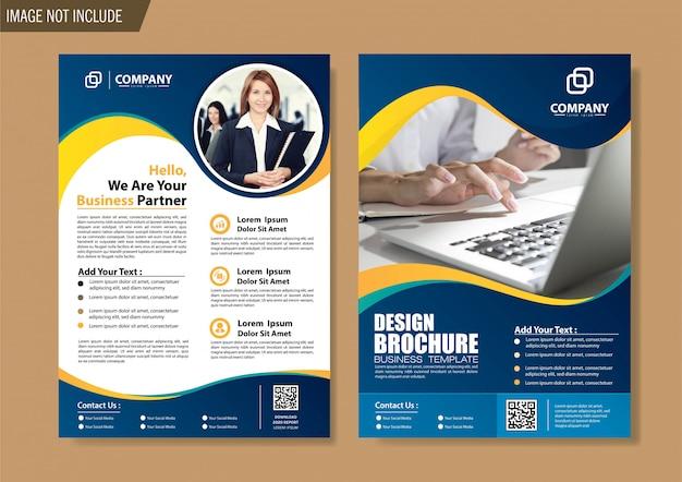 Portada del folleto y plantilla de folleto para el informe anual de diseño.