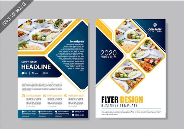 Portada del folleto y plantilla de folleto para el informe anual.