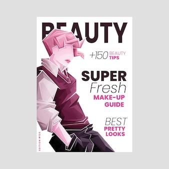 Portada ilustrada de la revista de belleza.