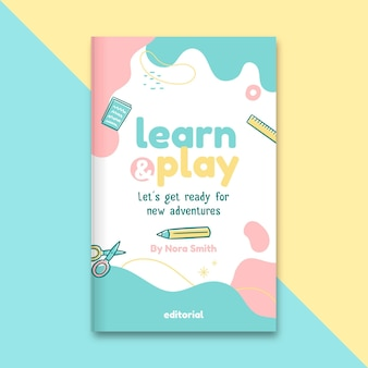 Portada de libro de educación infantil abstracta