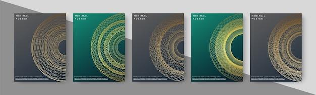 Portada de libro de lujo con geometría de línea abstracta