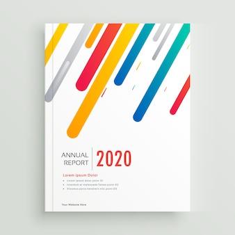 Portada de libro moderno o diseño de folleto