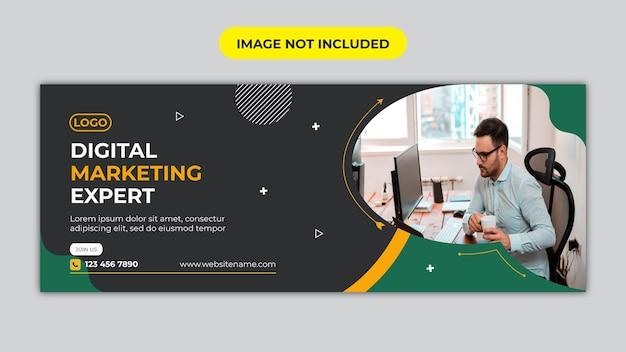 Portada de marketing digital y redes sociales corporativas