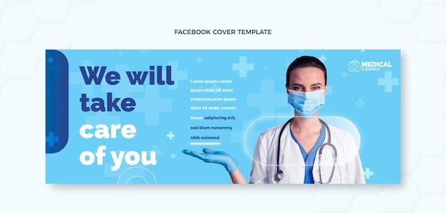 Portada médica plana de facebook