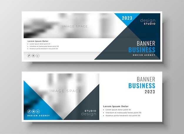 Portada o encabezado de facebook de negocios con estilo en diseño de tema azul