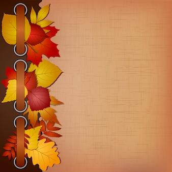 Portada de otoño para un álbum con fotos.