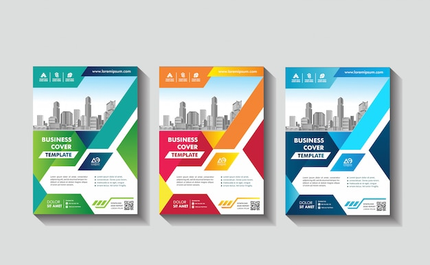 Portada póster a4 catálogo libro folleto flyer diseño informe anual plantilla de negocio