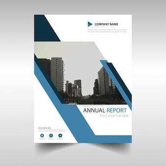 Portada de reportaje anual en diseño abstracto
