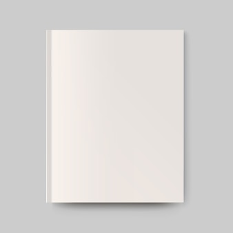 Portada de revista en blanco. objeto aislado para diseño y branding.