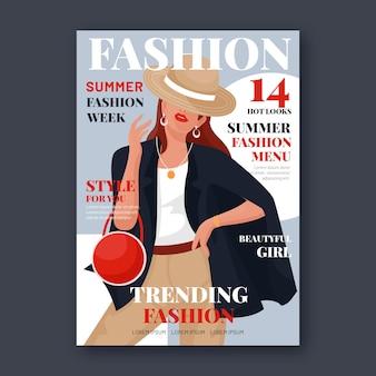 Portada de revista de moda detallada
